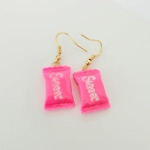 💟🆕️ Handmade Acrylic Pink Sweet Candy Earrings